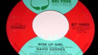 David Geddes - Wise up girl