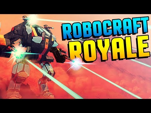 ROBOCRAFT MEETS FORTNITE! Insanely Intense 100 Man Mech Action In ROBOCRAFT BATTLE ROYALE Gameplay