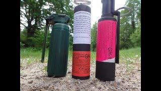 Paintball Grenade vs Czech Police Grenade vs Smoke Granate