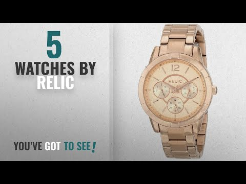 Top 10 Relic Watches [2018]: Relic Women's ZR15698 Payton Multi Rose Gold Watch