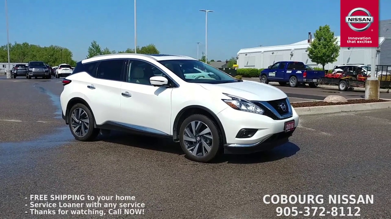 2016 nissan murano platinum review at cobourg nissan youtube. Black Bedroom Furniture Sets. Home Design Ideas
