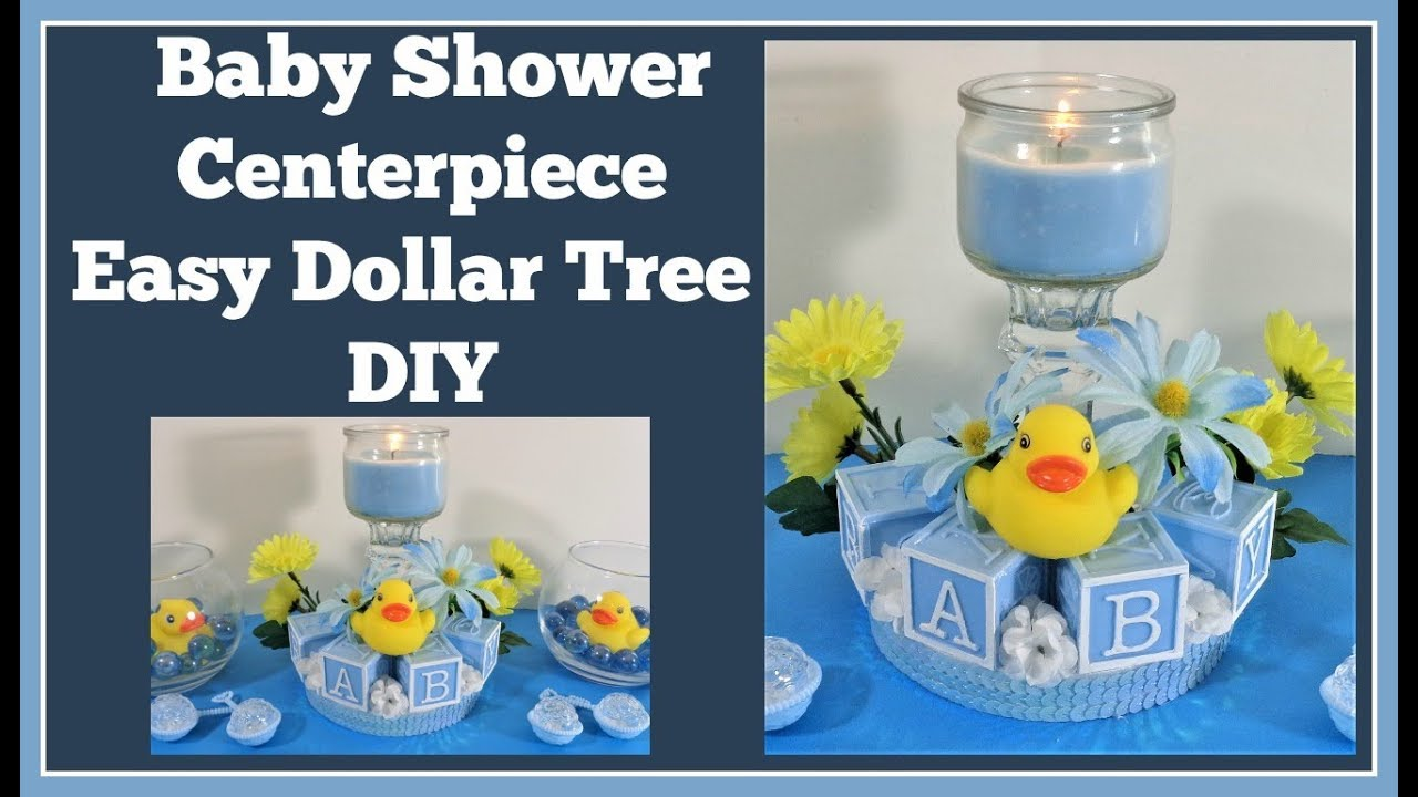 Baby Shower Centerpiece Dollar Tree Diy Youtube