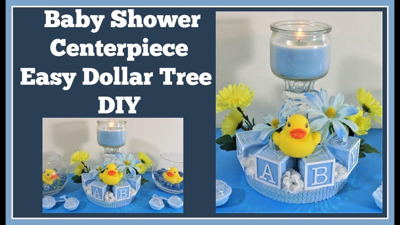 Baby Shower Centerpiece  Dollar Tree DIY - YouTube