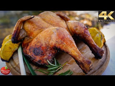 Primitive Cooking in 4K - EPIC Grilled Whole Chicken