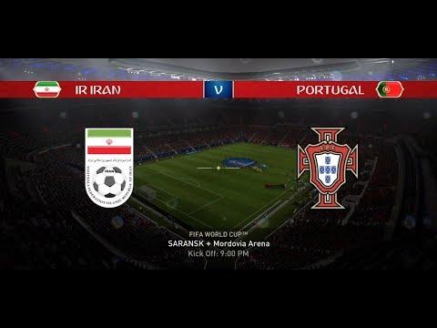Video: EA Sports FIFA 18 World Cup Mode Prediction / GROUP B - IRAN vs  PORTUGAL in 1080p #36