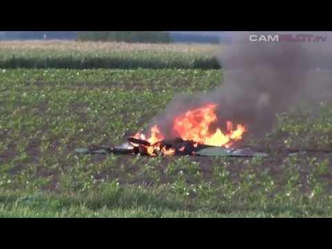 ME 163 - maiden flight & burning crash