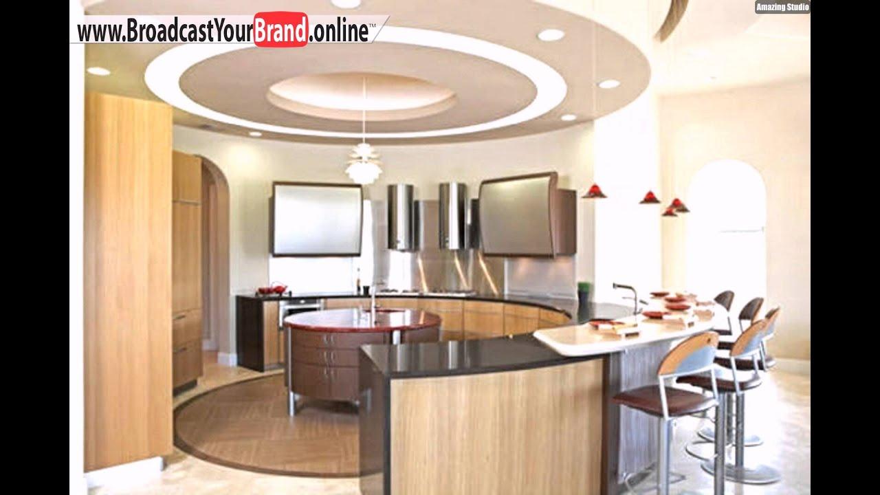 Weiße Runde Hängedecke Küche - YouTube