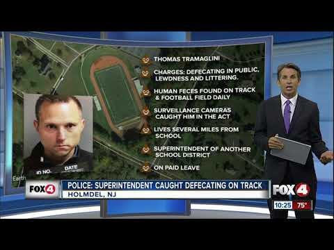 School superintendent arrested for pooping on school's football field