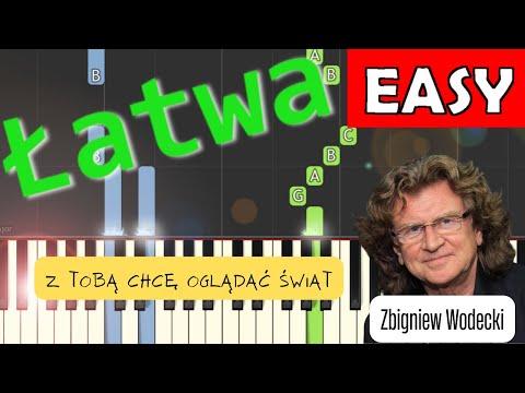 🎹 Z Tobą chcę oglądać świat (Zbigniew Wodecki, Zdzisława Sośnicka) - Piano Tutorial (łatwa wersja) 🎹
