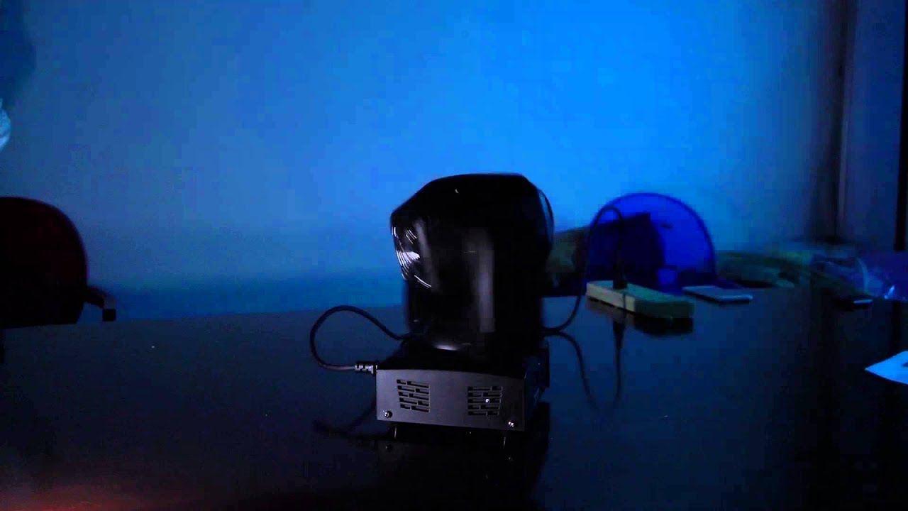 35W DMX512 Sound Control Auto Rotating 9 / 11 Channels Rainbow 8 Colors  Changing Moving Head