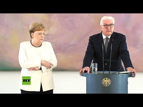 Merkel tiembla de nuevo durante un acto público