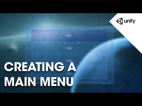 Live Training 5th September 2016 - Creating a Main Menu