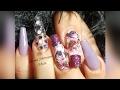 Uñas Acrilicas /Water Stiker/ Nails Acrylics.