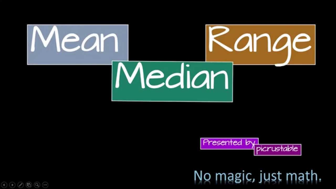 Mean, Median, Range: NASA Worksheet Data - YouTube
