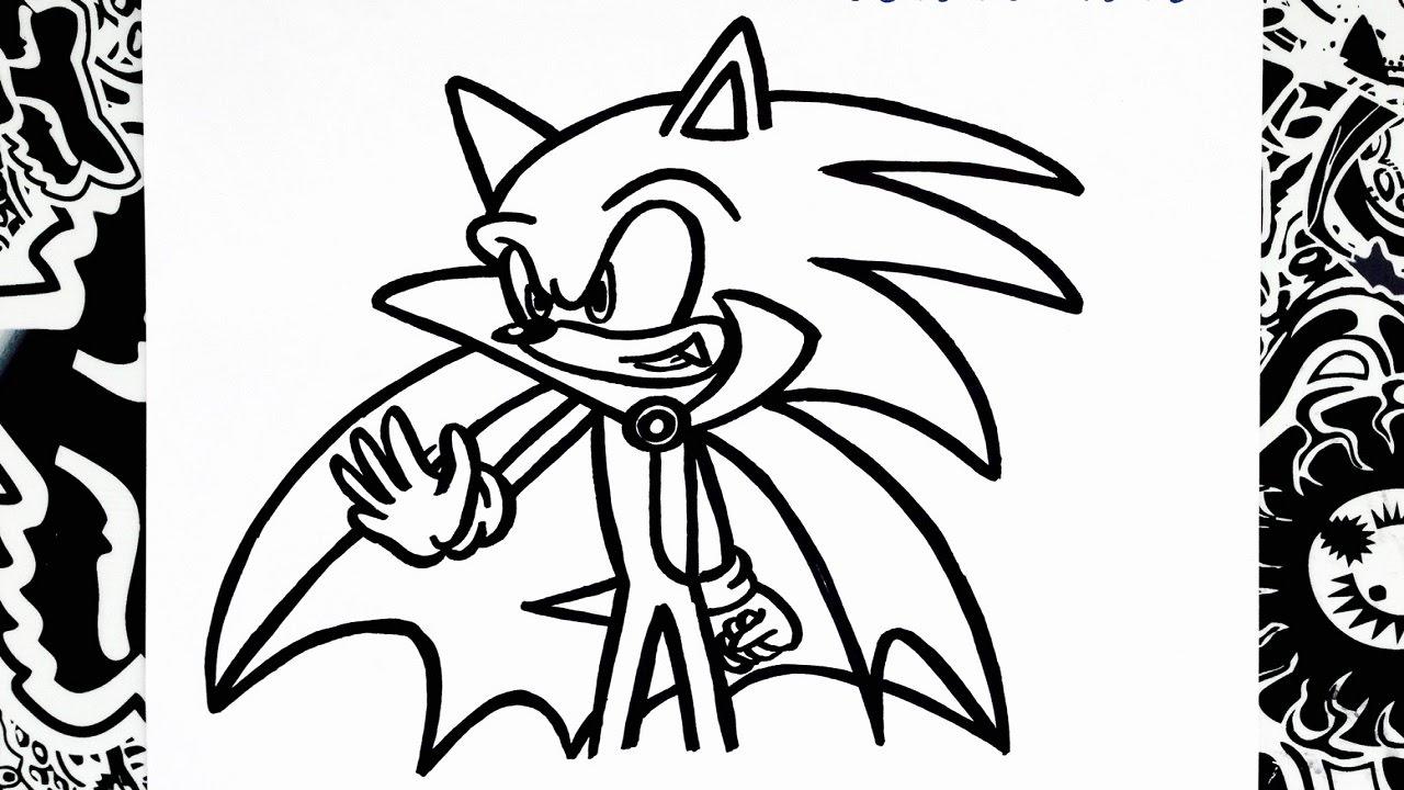 Como Dibujar A Sonic Halloween Haw To Draw Sonic