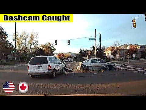 Ultimate North American Cars Driving Fails Compilation - 120 [Dash Cam Caught Video]