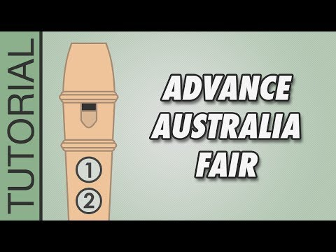 Advance Australia Fair  Recorder Notes Tutorial