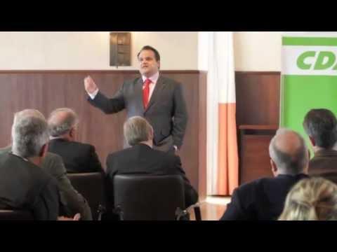 Minister Jan-Kees de Jager bij business lunch CDA