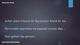 TAŞIN ALTINA ELİNİ KOYMAK KISA KISSA (SESSİZ HİKAYELER)