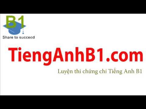 TiengAnhB1.com B2 - L1 - Test 01