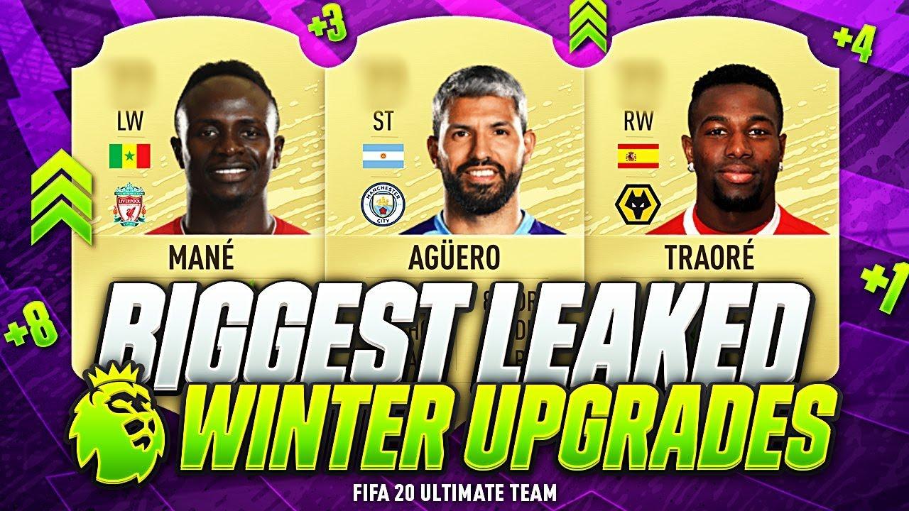 Fifa 20 Biggest Confirmed Premier League Winter Upgrades Leaked Aguero Mane Adama Van Dijk Youtube