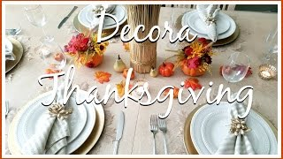 Ideas para decorar tu mesa en THANKSGIVING o ACCION DE GRACIAS ♦ consaboraKaFé