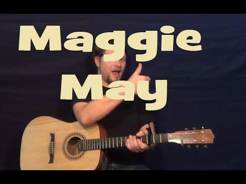 Maggie May (Rod Stewart) Easy Guitar Lesson How to Play Tutorial