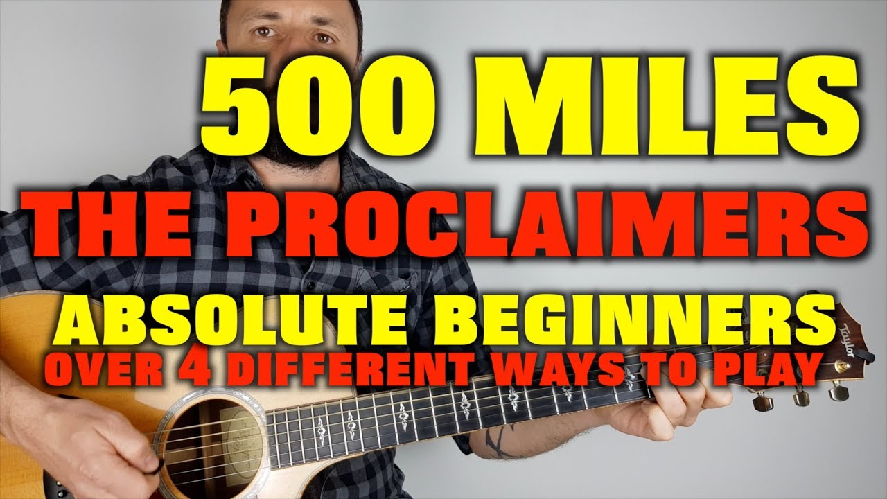 500 Miles Easy Guitar Lesson The Proclaimers Youtube