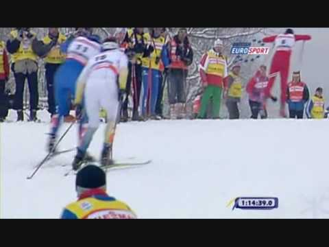 Petter Northug, beastly finish in 2009 30km world championships