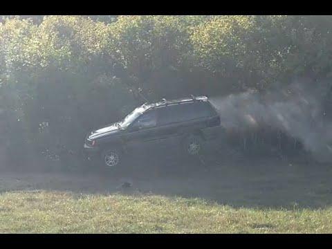 Crashing And Jumping Cars. Dealer Trade In Destruction