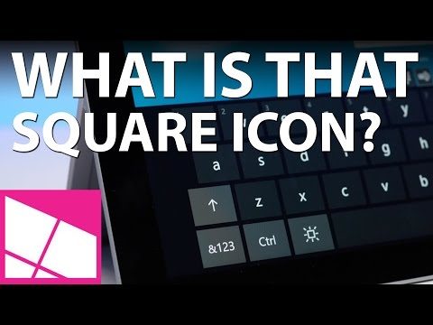 What is that square icon on the Windows 10 sign-in screen?