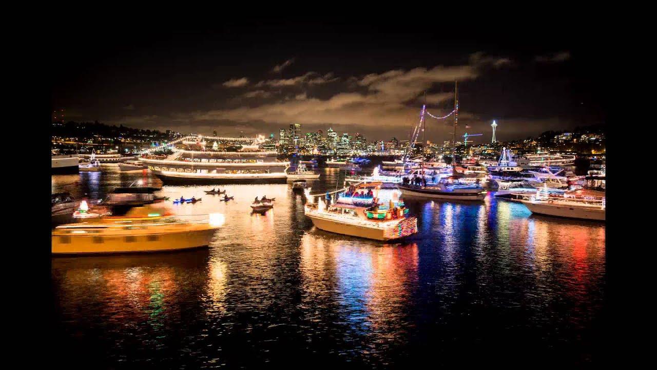 holiday dancing christmas ships in lake union 2013 youtube
