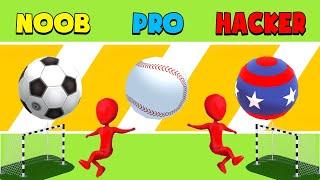 NOOB vs PRO vs HACKER – Crazy Kick!