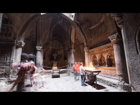 Армения. Пещерный монастырь Гегард
