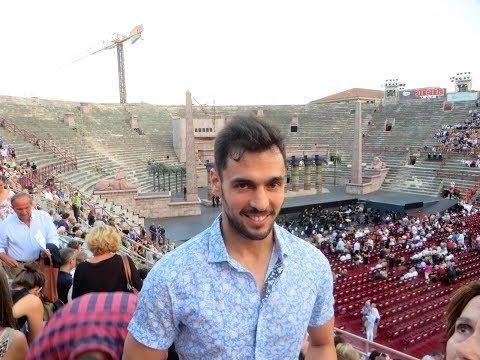 Opera de Aida en la Arena de Verona (Italia)