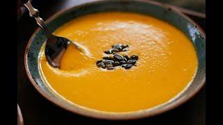 Вкусный суп-пюре из тыквы.Pumpkin soup puree