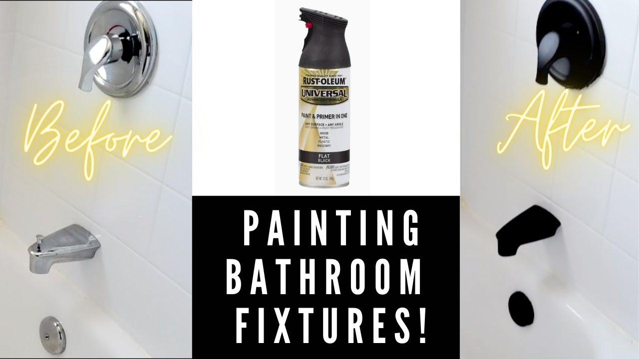 Painting Bathroom Fixtures Black Casa Kerins Ep 4 Rustoleum Spray Paint Youtube