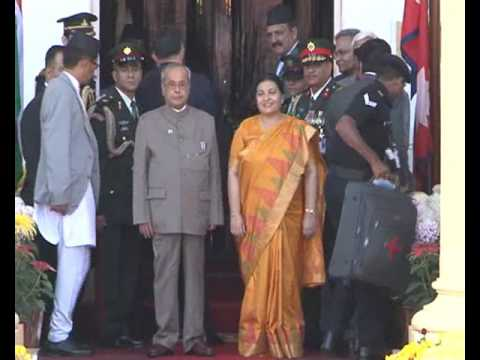 Indian President and Nepali President Meeting at Shital Niwas
