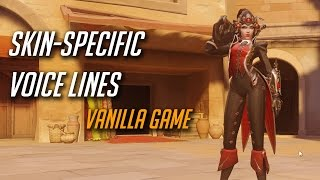 overwatch all skin specific voice lines vanilla version