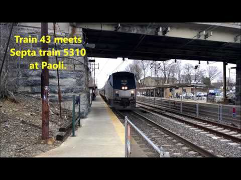 The Pennsylvanian Train 43 at Paoli 3/24/17