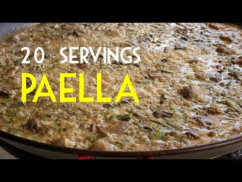 20 SERVINGS PAELLA BY SPANISH COOKING