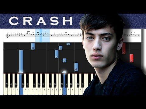 EDEN - crash | Piano tutorial + MIDI