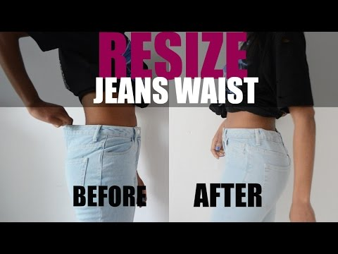 DIY LIFE HACK | HOW TO RESIZE JEANS WAIST (Elastic Method)