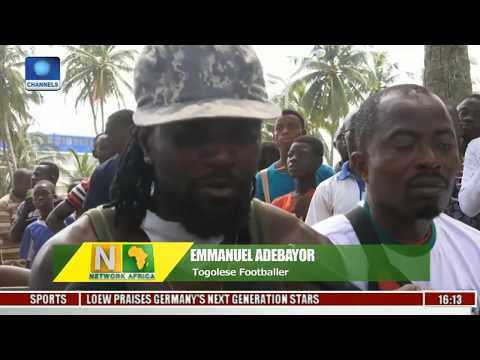 Network Africa: Adebayor Leads Beach Clean Up In Togo