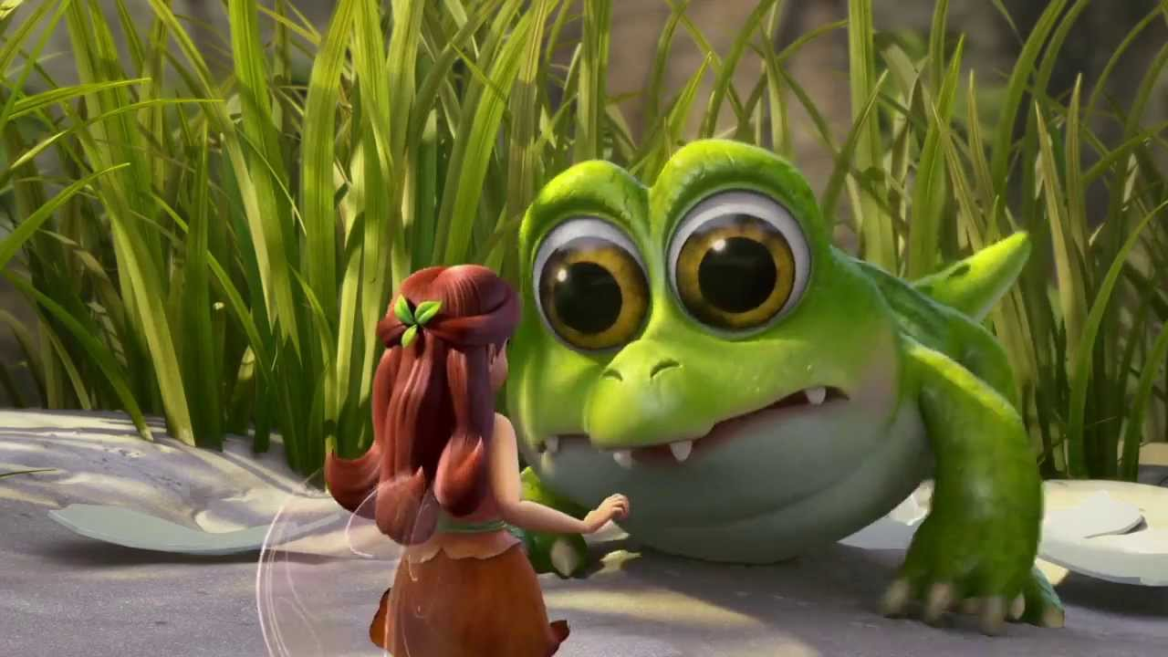 Disney Cartoon Characters Wallpapers In 3d Tinker Bell And The Pirate Fairy Baby Crocodile Youtube