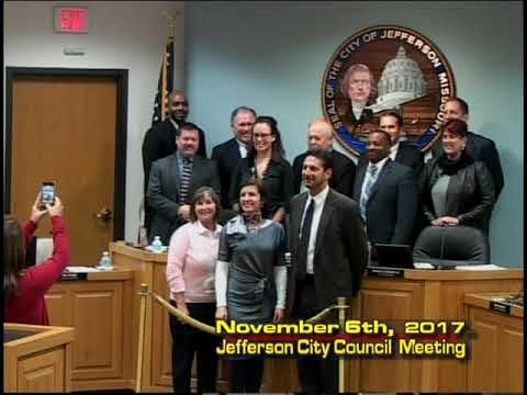 Jefferson City Council Meeting November 6th 2017