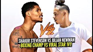 Julian Newman 1v1 vs BOXING CHAMP Shakur Stevenson!