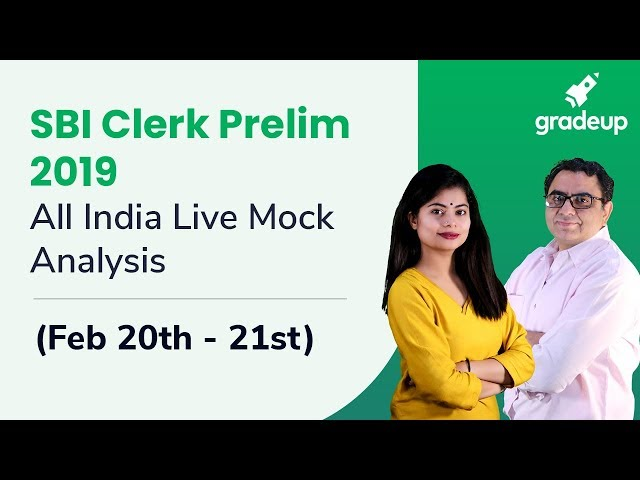 SBI Clerk Prelims 2019 | All India Live Mock Analysis (Feb 20 - Feb 21)