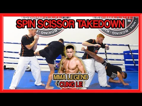 Cung Le Teaches his Spin (Reverse) Scissor Takedown | GNT Tutorial