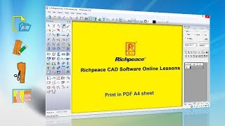 Richpeace CAD Software Online Lessons Tip of the day-Print PDF in A4 sheet